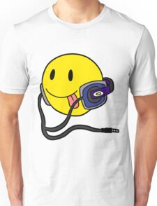 Smiley Headphone Unisex T-Shirt