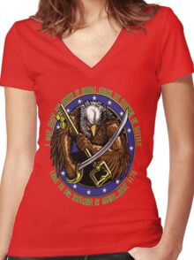 supply eagle Women's Fitted V-Neck T-Shirt