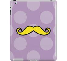 Moustache, Polka Dots - Black Purple Yellow iPad Case/Skin