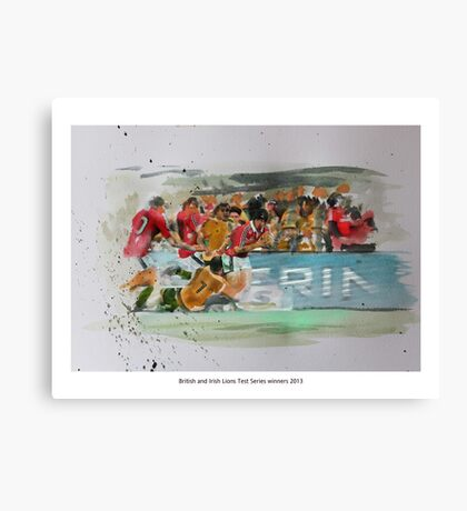 British and Irish Lions Test winners 2013 Canvas Print