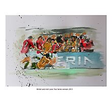 British and Irish Lions Test winners 2013 Photographic Print