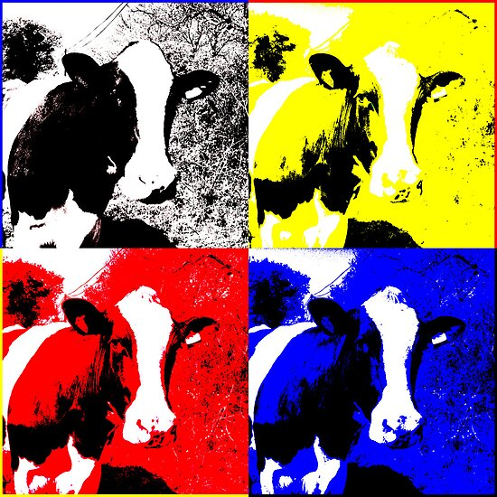 CMYK Cows by artonthehoof