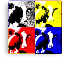 CMYK Cows Canvas Print