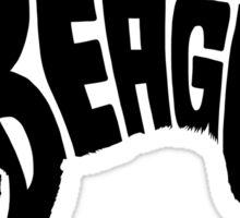 Beagle Black Sticker