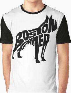 Boston Terrier Black Graphic T-Shirt