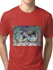 world map antique 3 Tri-blend T-Shirt