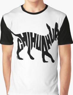 Chihuahua Black Graphic T-Shirt