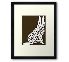 German Shepherd White Framed Print