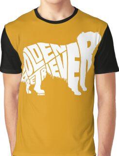 Golden Retriever White Graphic T-Shirt
