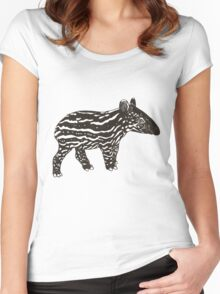 Baby Tapir Women's Fitted Scoop T-Shirt