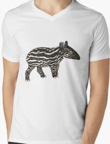 Baby Tapir Mens V-Neck T-Shirt