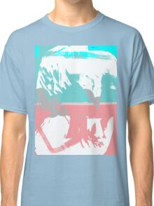Abstract brush face - blue/pink Classic T-Shirt