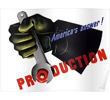 America's Answer! Production -- World War II Poster