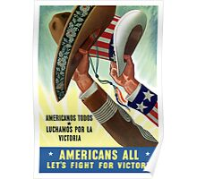 Americans All Let's Fight For Victory -- WW2 Poster