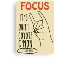 Quiet Coyote Canvas Print
