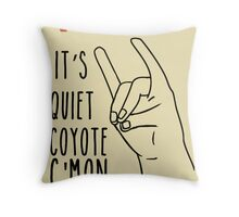 Quiet Coyote Throw Pillow