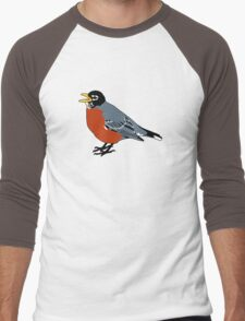 American Robin Bird Men's Baseball ¾ T-Shirt