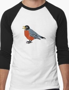 American Robin Bird Men's Baseball ¾ T-Shirt