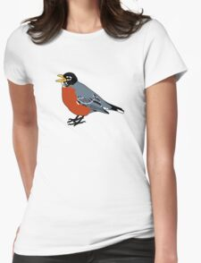 American Robin Bird Womens Fitted T-Shirt