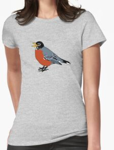 American Robin Bird Womens Fitted T-Shirt