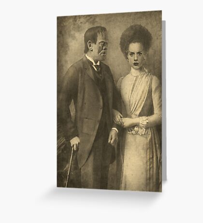 Mr. and Mrs. Frankenstein  Greeting Card