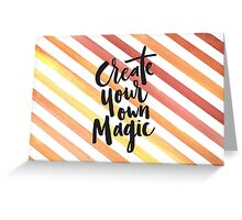 Orange Stripes - Create Your Own Magic Greeting Card