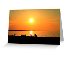 Sunset Bay Outlet Greeting Card