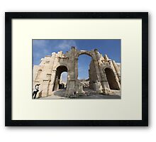 Ruins at Jerash in Jordan Framed Print