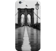 Brooklyn Bridge In Rain iPhone Case/Skin