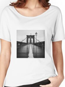 Brooklyn Bridge In Rain Women's Relaxed Fit T-Shirt