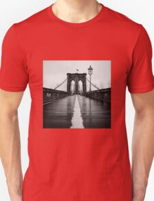 Brooklyn Bridge In Rain T-Shirt