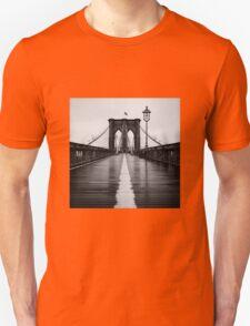 Brooklyn Bridge In Rain T-Shirt