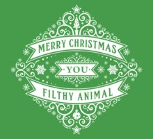Merry Christmas You Filthy Animal (vintage) One Piece - Short Sleeve
