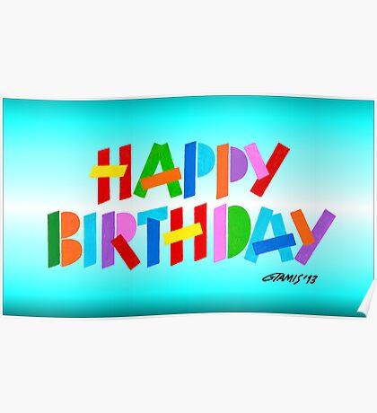 HAPPY BIRTHDAY Poster