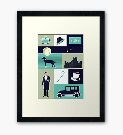 Downton Abbey - Collage Framed Print