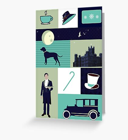 Downton Abbey - Collage Greeting Card