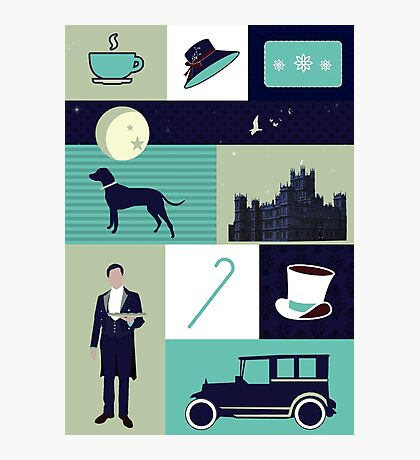 Downton Abbey - Collage Photographic Print