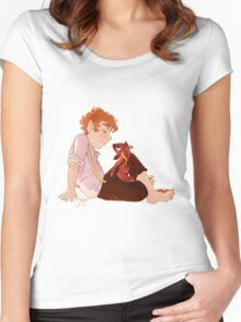 Bilbo and Smaug Women's Fitted Scoop T-Shirt