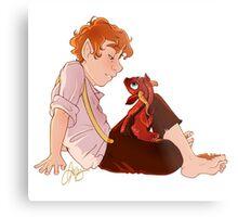 Bilbo and Smaug Metal Print