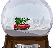 Christmas globe by vivalajester