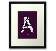Letter A - typography (Alaska) Framed Print