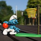 Basketballer smurf by freshairbaloon