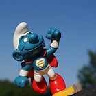 Smurf superman by freshairbaloon