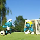 Smurf football by freshairbaloon