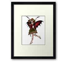 Christmas Fairy Elf Girl Framed Print