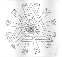 Sacred Geometry - Paint Your Own Print Poster