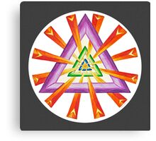 Sacred Geometry - Full-Color Print, Grey Background Canvas Print