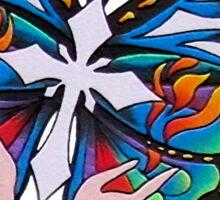 Christianity Butterfly Art Sticker