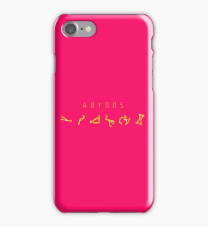 Wow Feminine Abydos chevrons Golden style on pink iPhone Case/Skin
