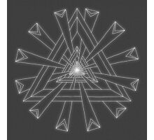 Sacred Geometry - White on Dk Grey Print Photographic Print